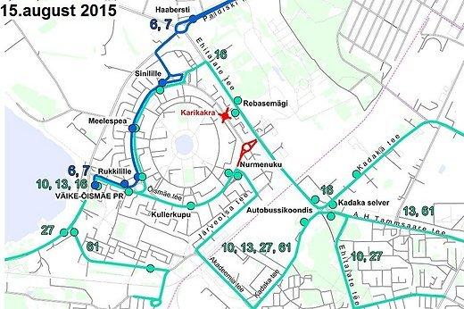 Õismäe tee muudatused  Foto: Tallinna transpordiamet